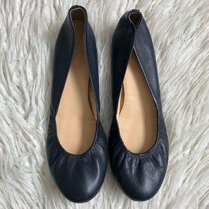 J. Crew Cece Italian-Made Leather Ballet Flats